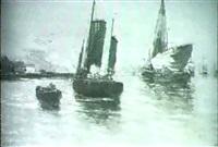 marine pres de amsterdam [&] marine sur la maas by henri fabre